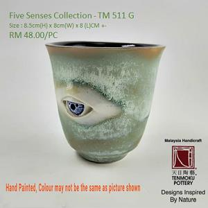 Five Senses Irregular Shape Small Tea Cup - Eye