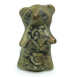 Animal Figurine - Bear With Floral Design