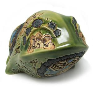Animal Figurine - Frog With Floral Design