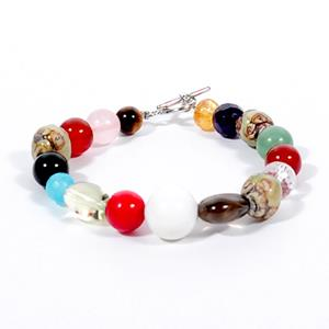 Bio Energy Bracelet with Assorted Natural Crystal