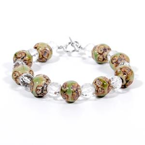 Bio Energy Bracelet with Clear Natural Crystal