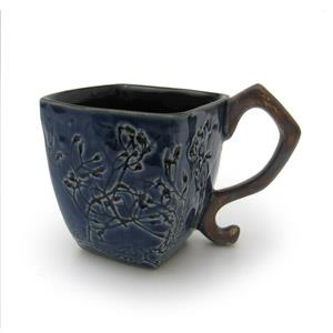 Square Mug - Twigs Design