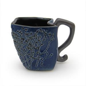 Mug Irregular Shape - Twigs Design