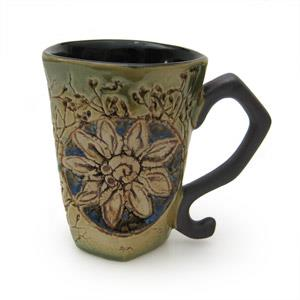 Mug Octogonal Shape - Twigs Design