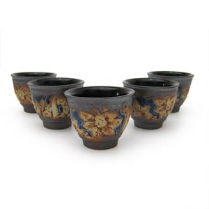 5 Tea Cup Set - Floral Design