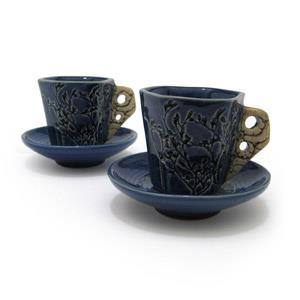 Pair of Espresso Mugs and Saucers